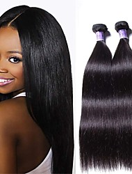 cheap -6 Bundles Brazilian Hair Straight Remy Human Hair Natural Color Hair Weaves / Hair Bulk Bundle Hair One Pack Solution 8-28inch Natural Color Human Hair Weaves Newborn Waterfall Cute Human Hair