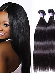 cheap -6 Bundles Brazilian Hair Straight Remy Human Hair Natural Color Hair Weaves / Hair Bulk Bundle Hair One Pack Solution 8-28inch Natural Color Human Hair Weaves Newborn Waterfall Cute Human Hair