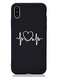 cheap -Case For Apple iPhone XS / iPhone XR / iPhone XS Max Frosted / Pattern Back Cover Heart Soft TPU