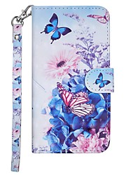 cheap -Case For Samsung Galaxy Galaxy S10 Wallet / Card Holder / with Stand Full Body Cases Butterfly / Flower Hard PU Leather
