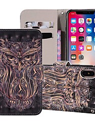cheap -Case For Apple iPhone XS / iPhone XR / iPhone XS Max Wallet / Card Holder / with Stand Full Body Cases Animal Hard PU Leather