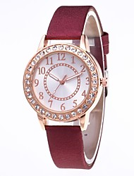 cheap -Women's Quartz Watches Casual Minimalist White Grey Pink PU Leather Chinese Quartz Dark Navy Rose Red Wine Casual Watch Adorable 30 m 1 pc Analog One Year Battery Life