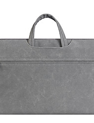 """cheap -14"""" Laptop Briefcase Handbags PU Leather Solid Color / Plain for Business Office for Colleages & Schools Unisex Water Proof Shock Proof"""