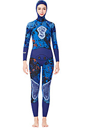 cheap -Women's Full Wetsuit 3mm SCR Neoprene Diving Suit Quick Dry High Elasticity Long Sleeve Back Zip Patchwork Autumn / Fall Spring Summer / Stretchy