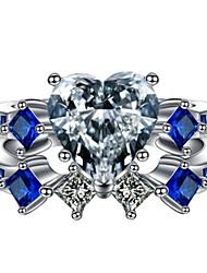 cheap -Band Ring AAA Cubic Zirconia Blue Alloy 2pcs 5 6 7 8 9 / Women's
