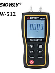 cheap -SW512 Digital Manometer Air Pressure gauge 11 Unit Vacuum Pressure Gauges differential natural gas pressure gauge meter measurement