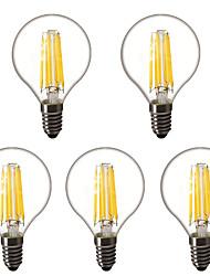 cheap -5pcs 4 W LED Globe Bulbs LED Filament Bulbs 450 lm E14 E26 / E27 G45 6 LED Beads High Power LED Decorative Warm White 220-240 V 220 V 230 V
