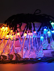 Недорогие -6.8 м водонепроницаемый капли воды строка гирлянды 30 светодиодов многоцветный открытый сад рождественская вечеринка украшения на солнечных батареях 1 компл.