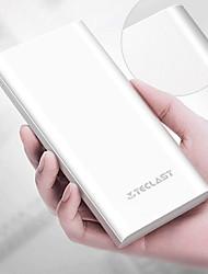Недорогие -Teclast 10000 mAh Назначение Внешняя батарея Power Bank 5 V Назначение 2.1 A Назначение Зарядное устройство с кабелем LED