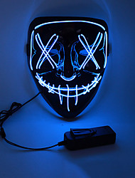 cheap -LED Halloween Mask Inspired by Purge White Orange LED Light Up Halloween Adults' Men's Women's