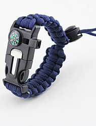 cheap -Paracord Bracelet Portable Safety Gear Ultra Light (UL) Other Material Outdoor Exercise Brown+Gray Camouflage Dark Navy 1 pcs