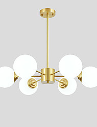 cheap -OYLYW 6-Light 75 cm New Design Chandelier Copper Glass Brass Nature Inspired / Modern 110-120V / 220-240V