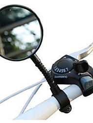 cheap -Rear View Mirror Handlebar Bike Rear View Mirror Adjustable Flexible Shatterproof Wide Range Back Sight Reflector Angle Cycling Bicycle motorcycle Bike Plastics Resin Black Road Bike Mountain Bike MTB
