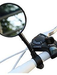 Недорогие -Зеркало заднего вида Рулевое зеркало на велосипед Регулируемая гибкая Ударопрочное С широким углом заднего обзора и рефлектором Велоспорт мотоцикл Велоспорт Пластик Резина Черный