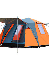 cheap -8 person Cabin Tent Family Tent Outdoor Windproof Rain Waterproof Double Layered Poled Dome Camping Tent Two Rooms 2000-3000 mm for Camping / Hiking / Caving Picnic Polyester Oxford Polyster