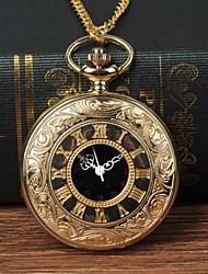 cheap -Men's Pocket Watch Quartz Gold Casual Watch Large Dial Analog Fashion - Golden