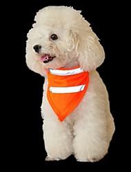 Недорогие -Собаки Коты Орнаменты Шарф для собаки Одежда для собак Оранжевый Желтый Костюм Мопс Бишон Фриз шнауцер Терилен Однотонный На каждый день Простой стиль S M L
