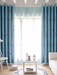 cheap -Two Panel American Style Printed Blackout Curtains Living Room Bedroom Dining Room Study Children's Room Curtains