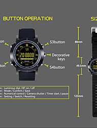 cheap -KUPENG EX19 Men Smartwatch Android iOS Bluetooth Smart Sports Waterproof Calories Burned Long Standby Timer Pedometer Call Reminder Activity Tracker Sleep Tracker / Sedentary Reminder / Alarm Clock