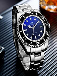 cheap -Men's Mechanical Watch Automatic self-winding Luxury Water Resistant / Waterproof Silver Analog - Black / White Black Blue / Calendar / date / day / Noctilucent / Large Dial