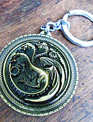 cheap -Game of Thrones Bag / Phone / Keychain Charm Dragon Creative / Metal / Plating / Dry flower Copper / Metal Universal