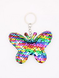 cheap -Keychain Butterfly Animals Simple European Ring Jewelry Fuchsia / Light Blue / Rose Gold For Causal Daily