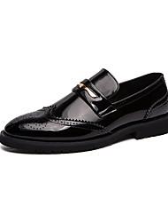 abordables -Homme Chaussures Formal Cuir / Cuir Verni Printemps été / Automne hiver Business / Simple Mocassins et Chaussons+D6148 Golf Shoes Chaud Noir / Dorée / Mariage / Soirée & Evénement
