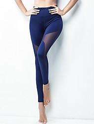 cheap -Women's High Waist Yoga Pants Cropped Leggings Butt Lift Breathable Quick Dry Black Royal Blue Nylon Running Dance Fitness Sports Activewear High Elasticity Skinny