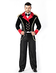 cheap -Magician Cosplay Costume Masquerade Adults' Male Outfits Halloween Halloween Carnival Masquerade Festival / Holiday Terylene Red+Black Male Carnival Costumes Patchwork