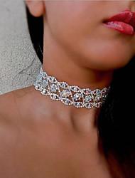 cheap -Women's Choker Necklace Luxury Imitation Diamond Gold Silver 30 cm Necklace Jewelry 1pc For Wedding Club