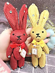 cheap -Rabbit / Creative Keychain Favors Cotton Fabric RFID Keyfobs - 1 pcs All Seasons
