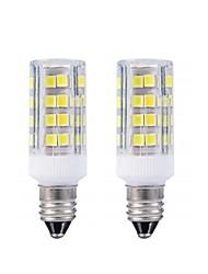 cheap -2pcs E11 LED Bulb Warm White 3000k / White 6000k Light Bulbs 3W 20W 40W Halogen Lamp Equivalent Mini Candelabra Base AC110/220v Omni-directional 360 Degree Illumination for Ceiling Fan Lighting