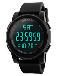 cheap -SKMEI Men's Digital Watch Digital Casual Water Resistant / Waterproof Digital Black Blue Green / Stainless Steel / Silicone / Calendar / date / day / Dual Time Zones / Stopwatch
