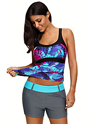 cheap -Women's Tankini Top Top Breathable Quick Dry Sleeveless Swimming Diving Surfing Painting Summer / Stretchy