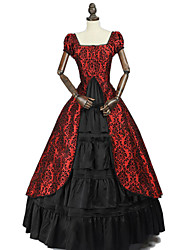 cheap -Princess Rococo Victorian Dress Women's Cotton Costume Black / Red / Purple / Green Vintage Cosplay Masquerade Party & Evening Sleeveless Ankle Length Plus Size