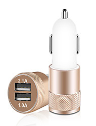 cheap -Car Charger, 3.1A Dual USB Cigarette Lighter Adapter, Aluminum Alloy Fast Car Charging Mini