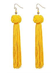 cheap -Women's Drop Earrings Hanging Earrings Tassel Classic Vintage Boho Resin Earrings Jewelry Yellow / Green / Wine For Party Ceremony Festival 1 Pair