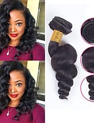 cheap -6 Bundles Brazilian Hair Loose Wave Unprocessed Human Hair Natural Color Hair Weaves / Hair Bulk Bundle Hair One Pack Solution 8-28 inch Natural Color Human Hair Weaves Silky Best Quality Lovely