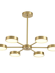 cheap -ZHISHU 6-Light 66 cm Chandelier Copper Sputnik / Industrial Brass Contemporary / Chic & Modern 110-120V / 220-240V