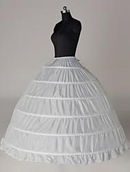 cheap -Bride Classic Lolita 1950s Dress Petticoat Hoop Skirt Crinoline Women's Girls' Cotton Costume White Vintage Cosplay Party Performance Princess