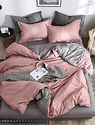 abordables -Ensembles housse de couette Couleur Pleine / Moderne Polyester Imprimé 4 PiècesBedding Sets