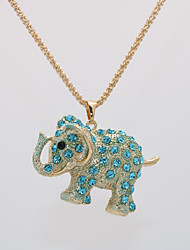 cheap -Women's Pendant Necklace Necklace Classic Elephant Animal Unique Design Trendy Ethnic Fashion Gold Plated Chrome White Pink Gold Light Blue 70 cm Necklace Jewelry 1pc For Gift Carnival Birthday Bar