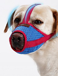 cheap -Dogs Muzzle Portable Mini Trainer Solid Colored Mesh Red Shiba Inu Pug Bichon Frise Pekingese Shih Tzu Poodle