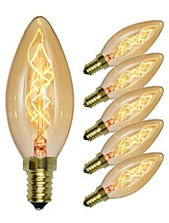cheap -6pcs 40 W E14 C35 Incandescent Vintage Edison Light Bulb 220-240 V / 110-120 V