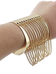 cheap -Women's Cuff Bracelet Tassel U Shape Stylish Unique Design Alloy Bracelet Jewelry Gold For Daily