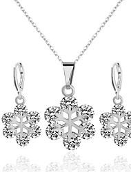 cheap -Women's Bridal Jewelry Sets Flower Romantic Sweet Rhinestone Earrings Jewelry Purple / Silver For Wedding Party 1 set