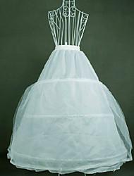 cheap -Bride Classic Lolita 1950s Dress Petticoat Hoop Skirt Crinoline Women's Girls' Tulle Cotton Costume White Vintage Cosplay Party Performance Princess