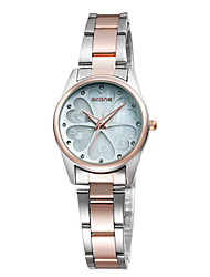 cheap -SKONE Women's Dress Watch Japanese Japanese Quartz Stainless Steel Black / Silver 30 m Casual Watch Analog Fashion Elegant - Silver Pink Rose Gold Two Years Battery Life