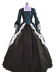cheap -Princess Rococo Victorian Dress Party Costume Costume Women's Cotton Costume Black Vintage Cosplay Masquerade Party & Evening Sleeveless Floor Length Long Length Plus Size