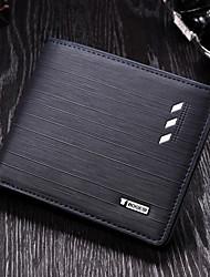 cheap -Men's Zipper PU(Polyurethane) / PU Wallet Blue / Coffee